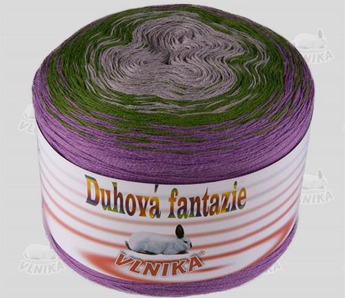 Příze Duhová fantazie - fialová