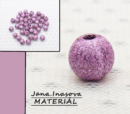 """Akrylové korálky \""""perleťovo fialové\"""" 10 ks"""