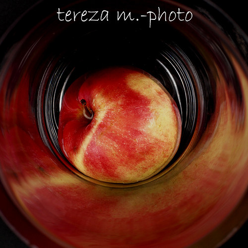 Apple in the glass
