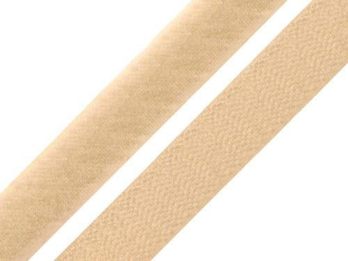 Suchý zip 1,6cm komplet - smetanový