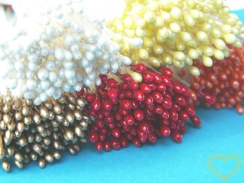 Pestíky květinové bílé 1-2 mm - 144 ks