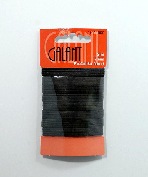 Pruženka 7mm černá, 2m
