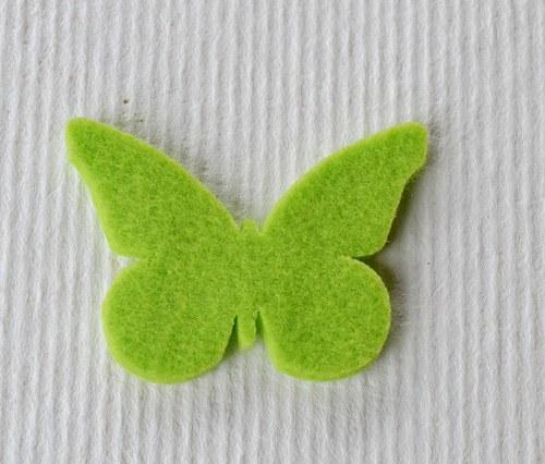 Výsek z plsti - motýlek hráškový