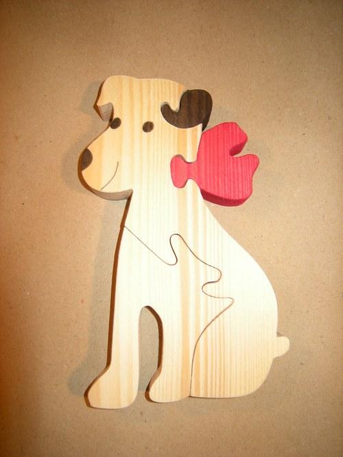 Pes s mašlí