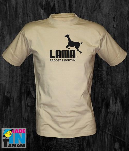 Pánské pískové tričko s Lamou