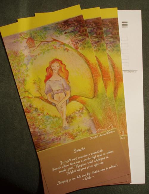 Samota - pohlednice s motivačním citátem