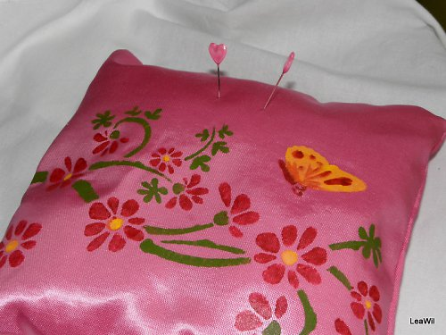 Minipolštářek 2 v 1 růžový rozkvetlý