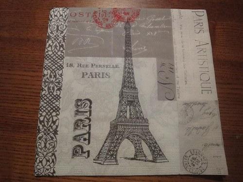 Ubrousek na decoupage - Paříž nová