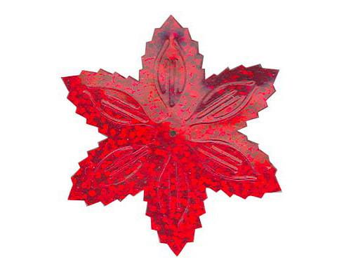 Flitry - červená  vánoční hvězda (1433-163) 50g