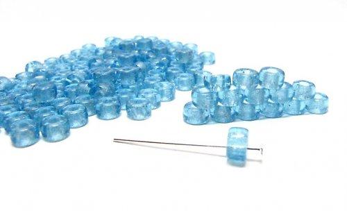Aqua rondelky 5x3 mm, práskané 20 ks