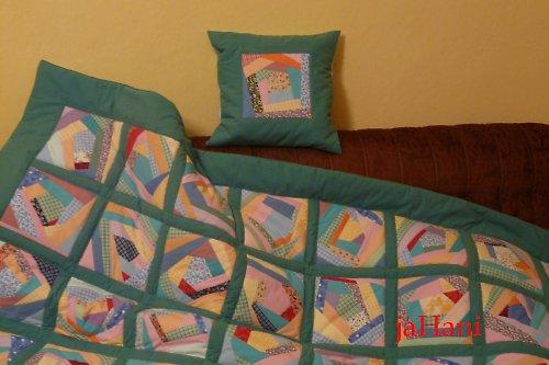 crazy deka s polštářkem