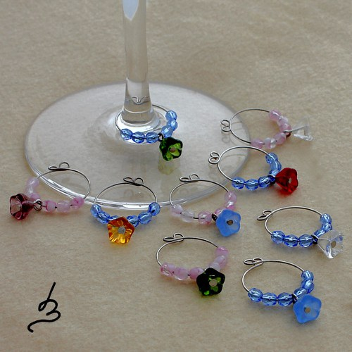 Glass charms Zvonky pro 12 osob