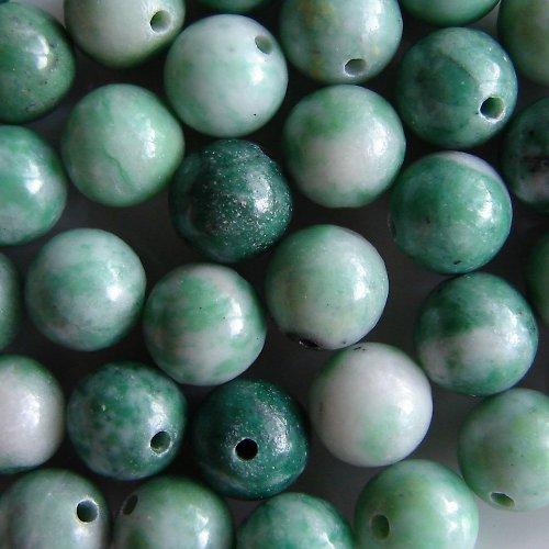Jadeit, zelenobílý, 8 mm (2 ks)