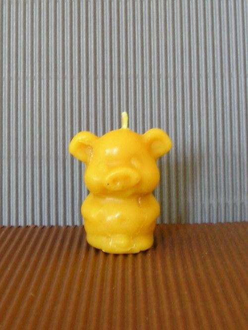 Svíčka ze včelího vosku - prasátko