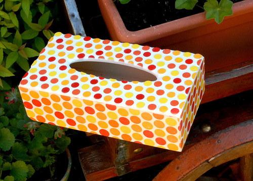 Zásobník na kapesníky puntíkatá mozaika