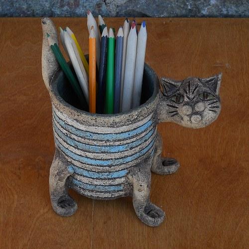 Tužkovník kočka modrobílý