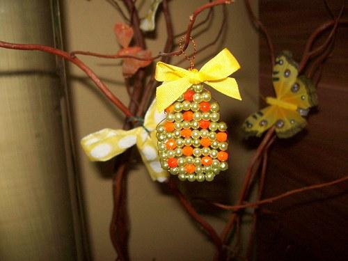 Velikonoční vajíčko z korálků