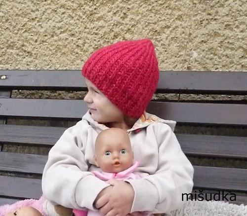 Čepice jako od maminky - červená 1.