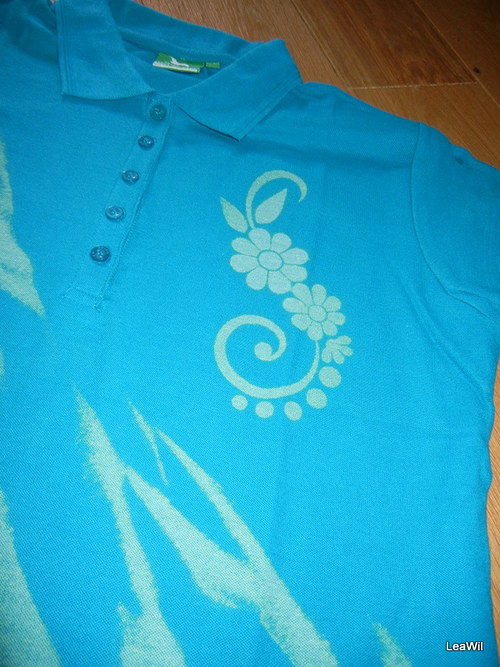 Tričko krátký rukáv dámské Polo XL - květinové