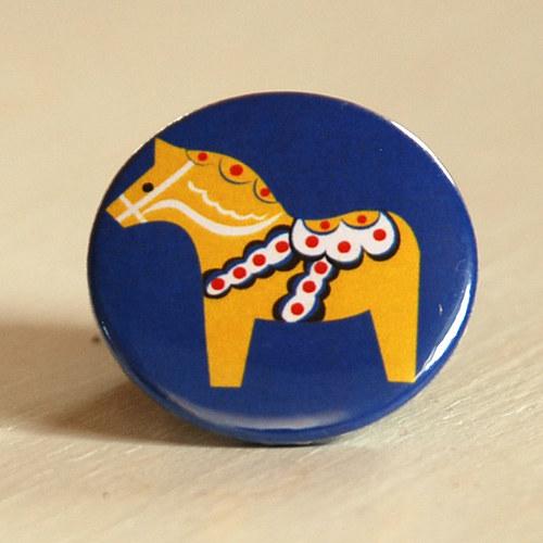 Motiv Dala Horse II - placka / zrcátko / magnet