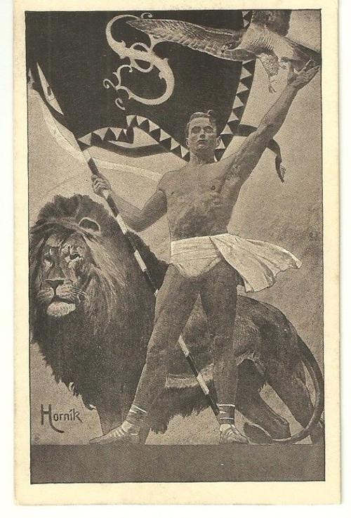 Pohlednice se Sokolskou tématikou r.1912