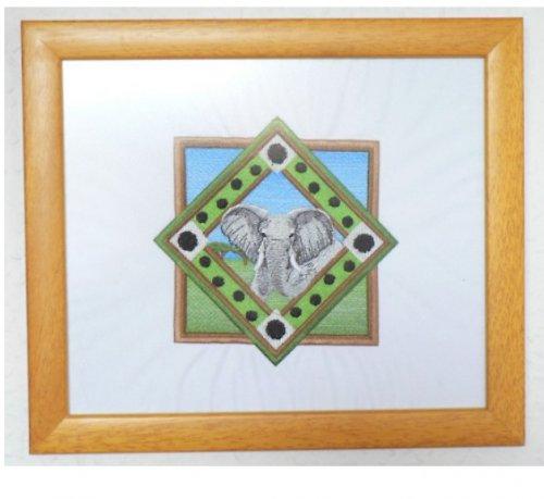 Sloní portrét- vyšívaný obraz