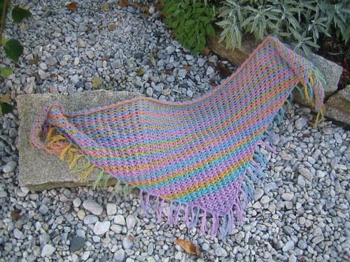 trojcípý šátek jawoll- pastelový
