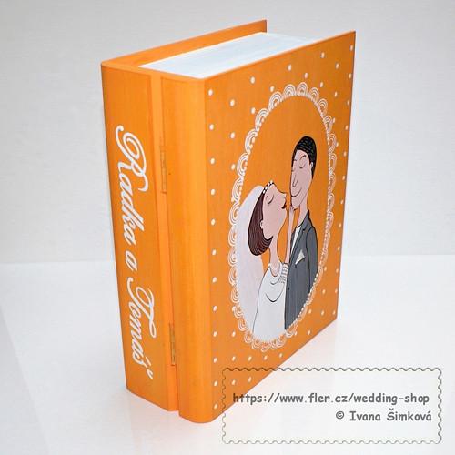 Svatební kniha oranžová