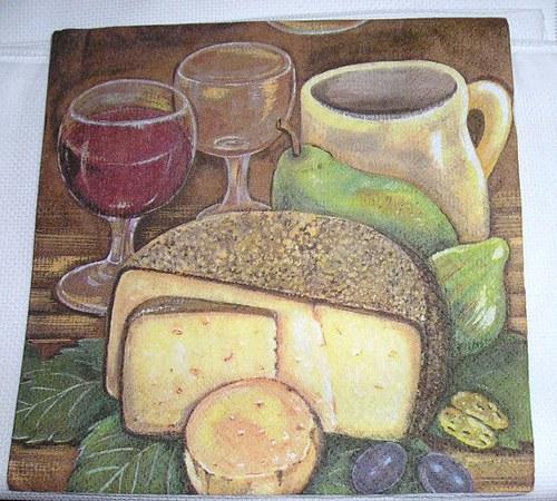 ubrousek - chléb a sýr