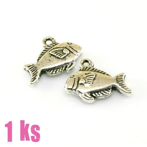 Přívěsek - rybka piraňka, 1 ks