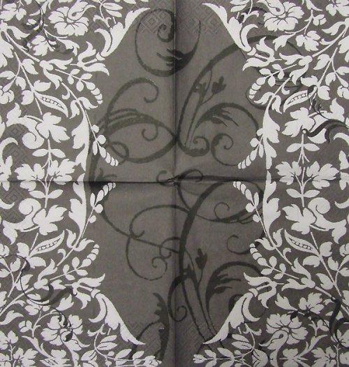 Ubrousek s šedo-černým ornamentem