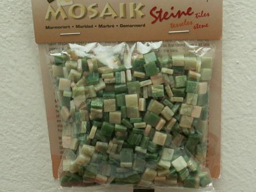 Zelená mramorová pryskyřicová mozaika - 45 g