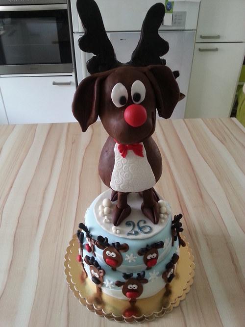 Zimní sob Rudolf s rodinkou....