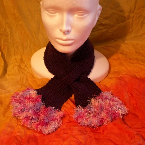 pletená šála fialová