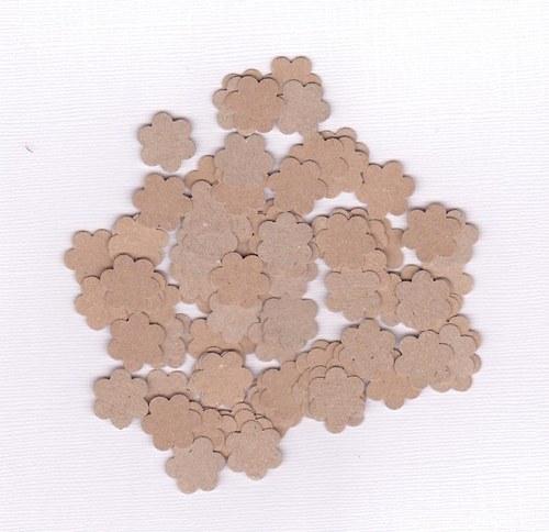 Kytička 1,6 cm - hnědé výseky (100 ks)