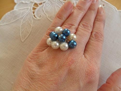 Modrobílý prsten - romantický