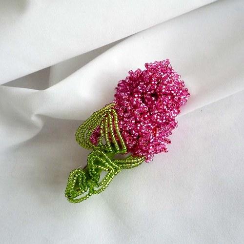 Šeřík růžový...spona do vlasů