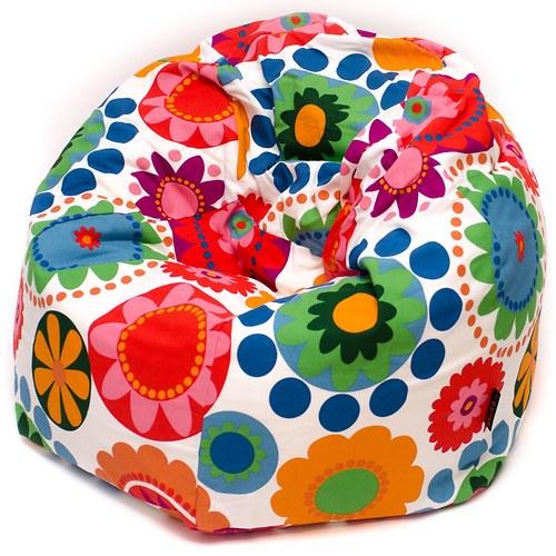 Malý sedací vak - velké květiny