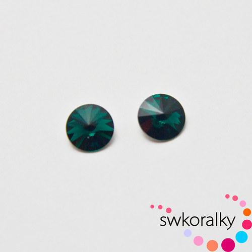 RIVOLI 8 mm SWAROVSKI ® ELEMENTS 1122 emerald