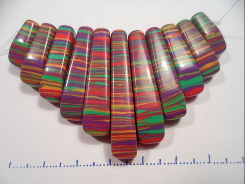 Set přívěšků - barevný tyrkys 11ks