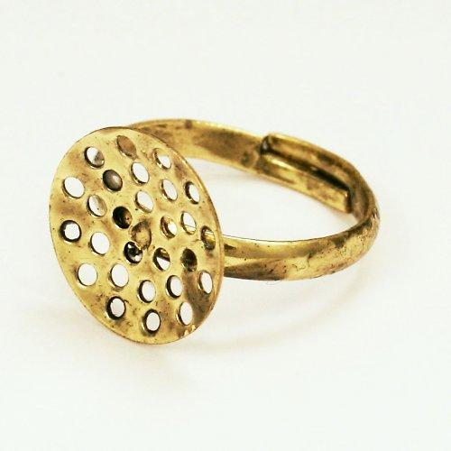 Základ na prsten bronzový světlý, sítko