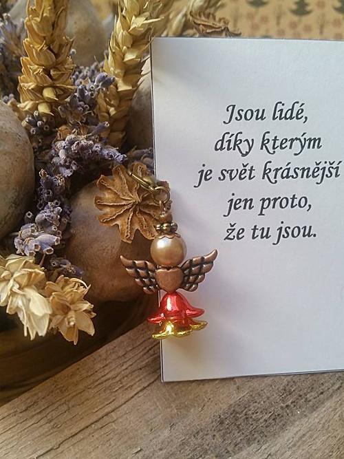 Andílek  pro radost s citátem  (122)