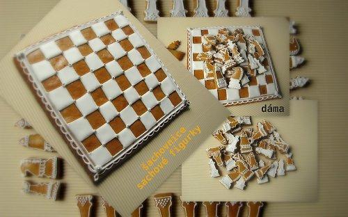 šachovnice s figurkami - perník