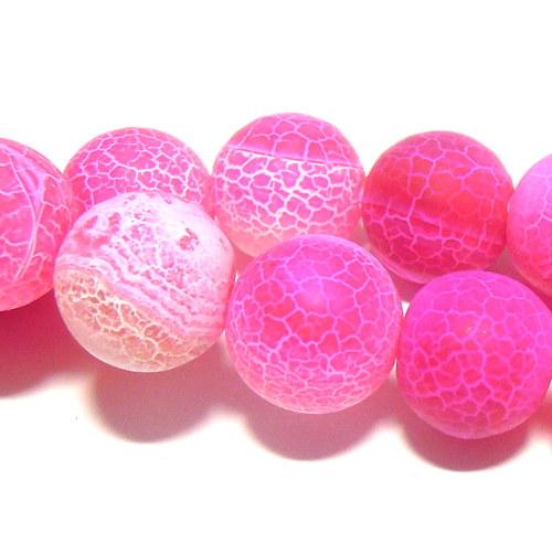 Achát růžový - 12 mm
