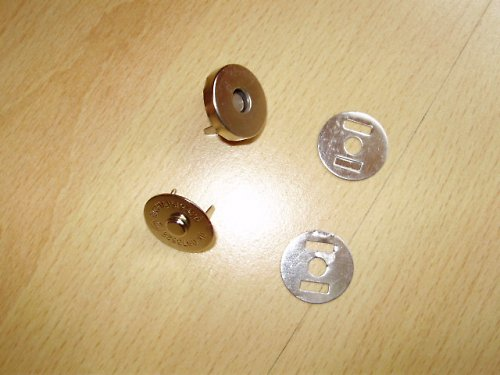 Zapínání magnet Ø15mm nejen na kabelky 10ks