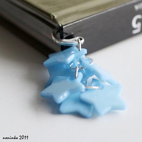 modrá hvězda  - záložka do knihy