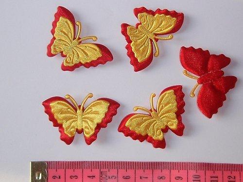 Aplikace motýlek červenožlutý