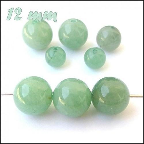 (0417) Zelený Aventurín, 12 mm - 1 ks