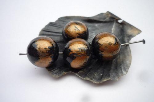metalizové korálky 10  ks  12 mm č.3 Doprodej !!!