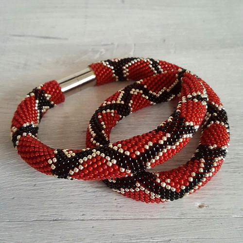 náhrdelník - snake in red